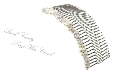 Pearl Society Large Wire Comb
